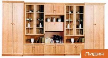 Корпусная мебель для гостиной. наборы корпусной мебели лидиЯ.